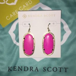 Like new pink/gold Kendra Scott earrings